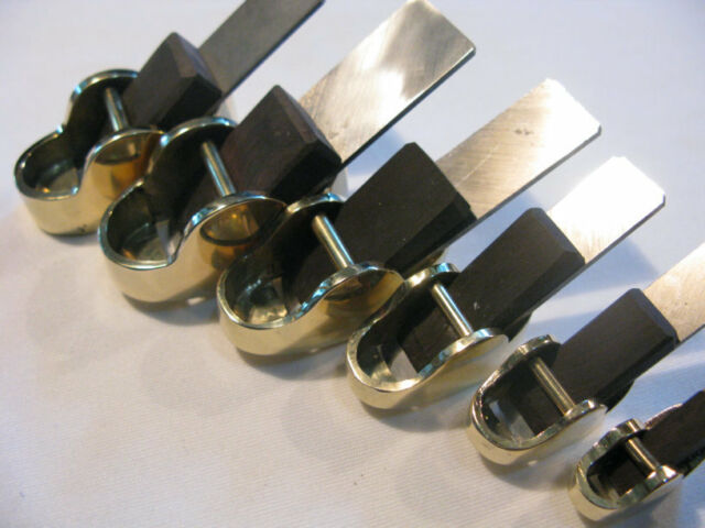 "6pcs ""hill"" style brass Mini,finger planes (convex bottom+flat bottom)"