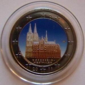 2 Euro Münze Deutschland Köln 2011 Mit Farbe Sehr Selten Ebay