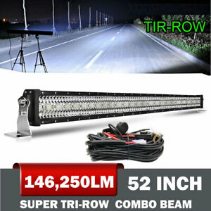 Details About 22 32 42 50 52 Led Spot Flood Combo Fog Driving Work Light Bar Curved Straight