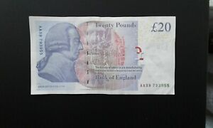 One-Single-20-Note-Serial-Number-AA39-793955-Bailey