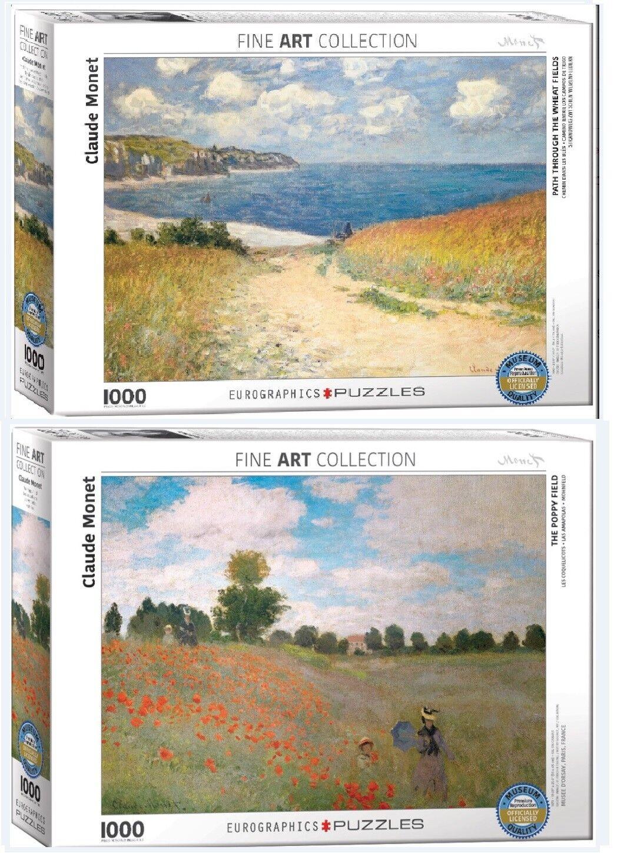 2 - puzzles 1000 pcs eurographics puzzle - sammlung von claude monet