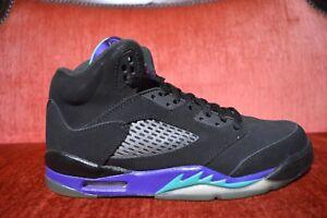sports shoes 15712 ffc54 Details about NIKE AIR JORDAN RETRO V 5 BLACK GRAPE AQUA GS Size 6.5 Y  440888-007
