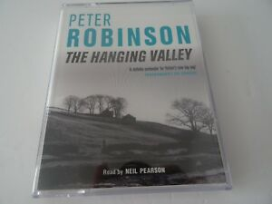 Peter-Robinson-The-Hanging-Valley-Read-Neil-Pearson-Cassette-Audiobook-DCI-Banks