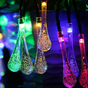 fairy lights ebay uk. image is loading 30led-water-drop-solar-string-lights-christmas-fairy- fairy lights ebay uk r