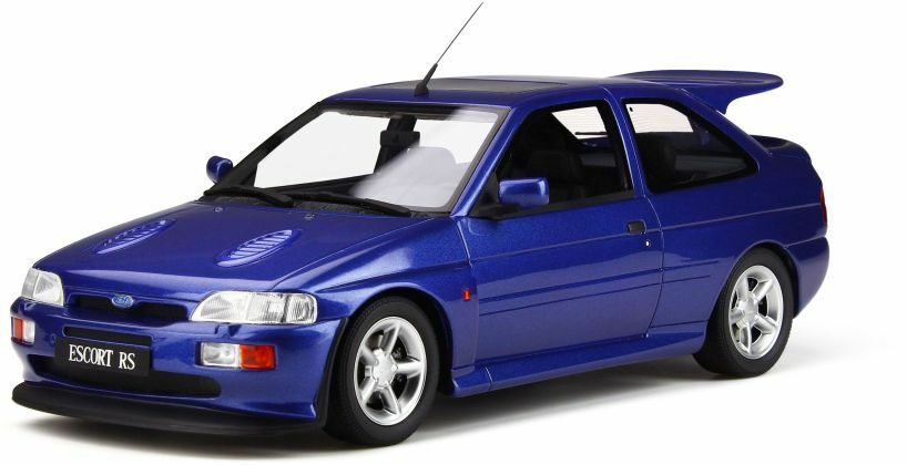 OTTO MOBILE 791 FORD ESCORT RS COSWORTH resin model road car met bluee 1992  1 18