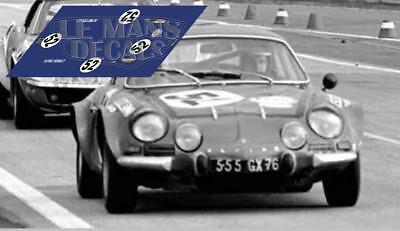 Calcas Alpine A110 Le Mans 1968 51 61 1:32 1:24 1:43 1:18 slot decals