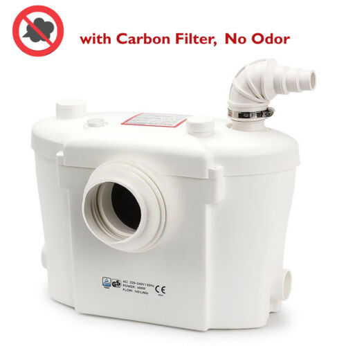 Sanitary Macerator Pump NEW with Carbon Filter up to 80m Horizontal Discharge