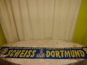 Schalke-Muenchen-Anti-Dortmund-Schal-034-WAS-WEISS-JEDER-KENNER-SCHEISS-DORTMUNDER-034