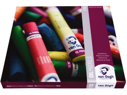Assorted Colour Oil Pastels Van Gogh 24 Colour Oil Pastel Artists Box Set