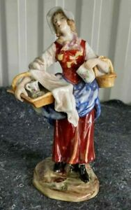 Antique-German-Albert-Stahl-And-Co-Figurine-034-Peasant-Lady-034-8-034