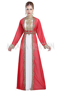 bdea0c463d Image is loading Moroccan-Party-Wear-Evening-Dress-Tunisian-Cultural-Walima-
