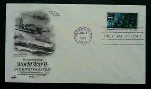 [SJ] USA Commemorating World War II 1992 Soldier Force Weapon Aircraft (FDC)