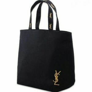 YSL Yves Saint Laurent VIP Gift Canvas Perfume Black Shopping Tote ... 79f67d643af6d