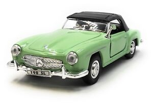 Maqueta-de-coche-mercedes-benz-190-sl-Oldtimer-verde-coche-1-34-39-con-licencia-oficial