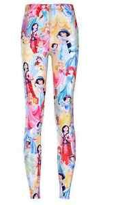 Disney-Princess-Aurora-Mulan-Ariel-Belle-Jasmine-Tiana-Rapunzel-Leggings