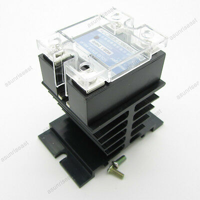 40A SSR Solid State Relay + Heat Sink DC3-32V Control AC24-480V