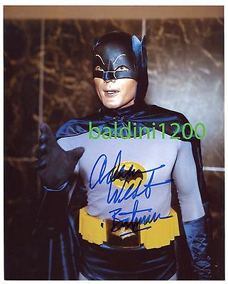 ADAM WEST - BATMAN SIGNED 10X8 PHOTO, GREAT STUDIO IMAGE, LOOKS GREAT FRAMED