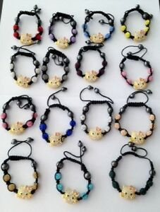 CHILDS-CRYSTAL-SPARKLY-HELLO-KITTY-BRACELET-CZECH-CRYSTALS-16-DIFFERENT-COLOR