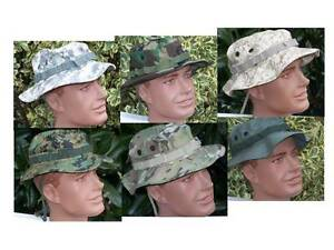 6216350694a72 Boonie Hat Multi Cam Rip Stop OD Green Army Military USMC Infantry ...