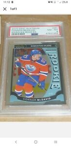 2015/16 O-Pee-Chee OPC PLATINUM CONNOR MCDAVID ROOKIE MARQUEE OILERS #M1 PSA 8