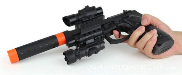 gun with silencer play set toy swat assault police rifle machine
