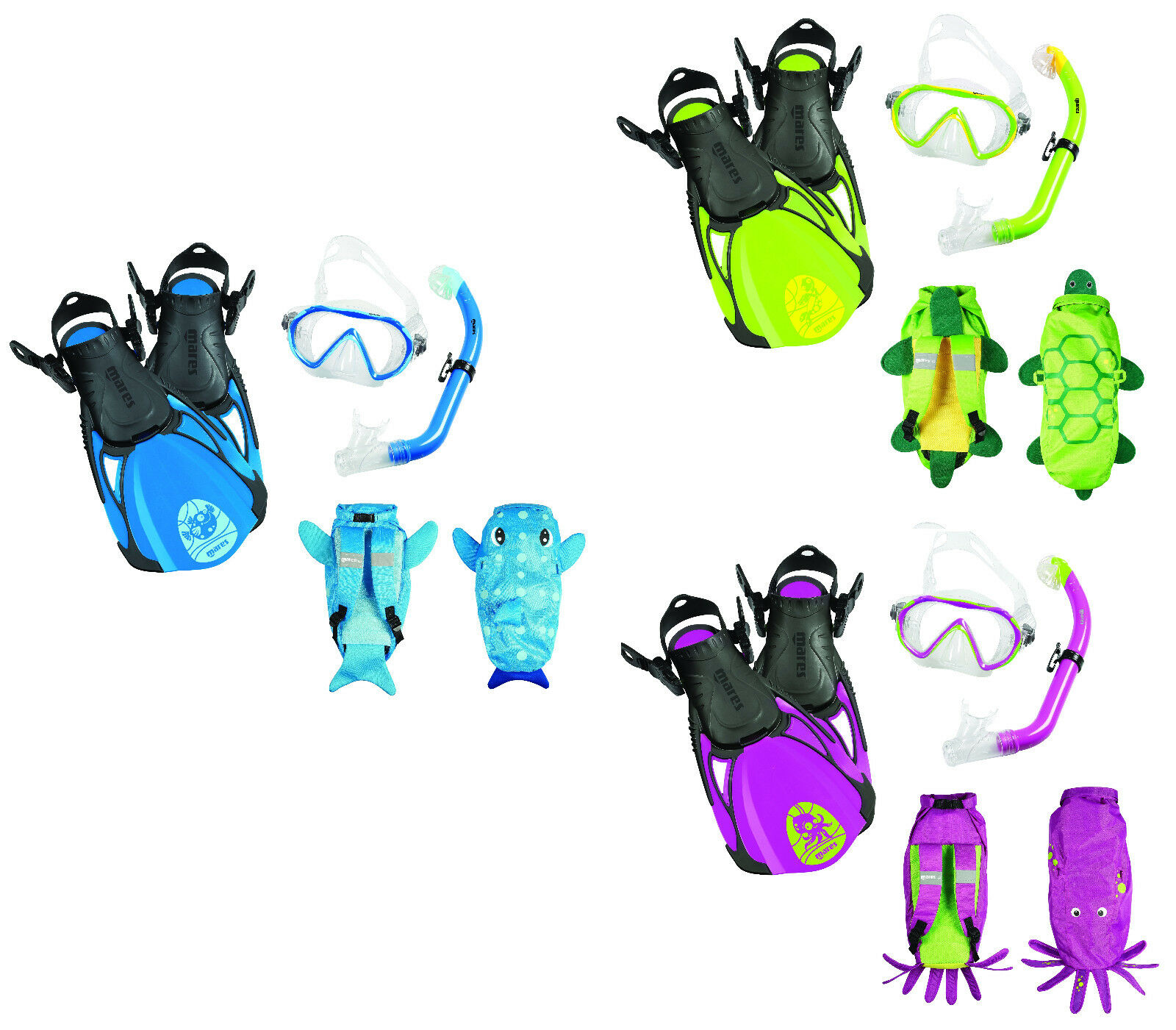 Mares Sea Friends Schnorchelset für Kinder mit Rucksack Gr. 27-37 27-37 27-37 ver. Farben 80c6d5