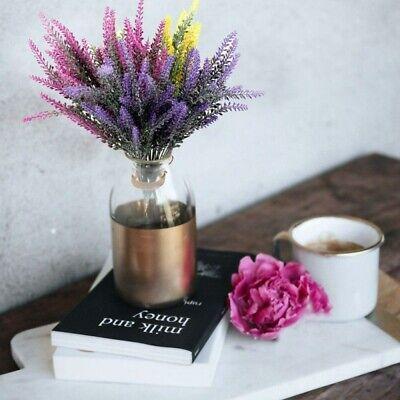 25 Head Artificial Lavender Flower Home Wedding Bouquet Garden Floral Decor