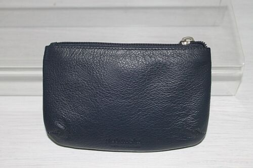 Blue or Black Leather Zipped Coin Purse by Golunski
