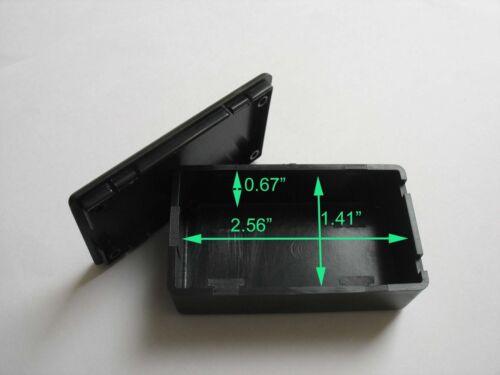 "New 10pcs DIY 2.75/"" x 1.61/"" x 0.9/"" Black Plastic Project Box Electronic Case"