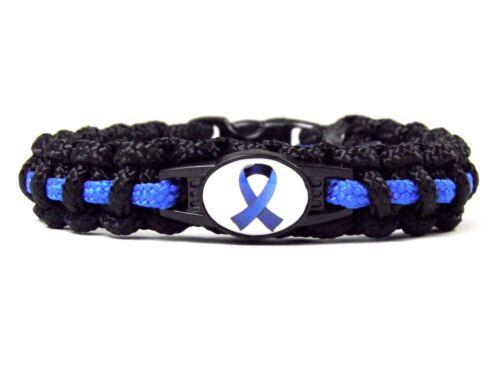 Paracord Typ II Armband-Polizei Armband-Thin Blue Line-Wunschlogo-Schleife-Hope