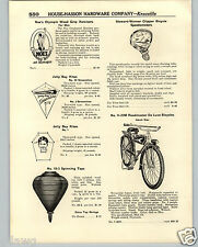 1936 PAPER AD Roadmaster Deluxe Balloon Tire Bicycle Tank Light Jolly Boy Kite
