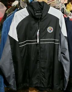 promo code 9ee19 fdded Details about PITTSBURGH STEELERS NFL DUNBROOKE SI ZIP UP WINDBREAKER  JACKET SIZE L BRAND NEW!