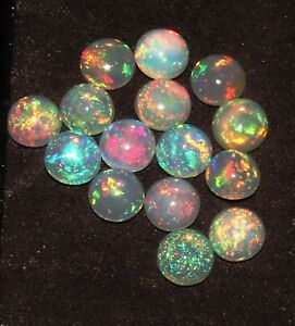 6-MM-NATURAL-AAA-ETHIOPIAN-FIRE-OPAL-CABOCHON-039-S-CALIBRATED-PLAY-OF-COLOR