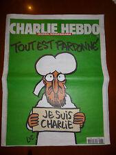 """Charlie Hebdo nº1178 """"Tout est pardonné"""" 14/01/2015 Original Edition Spéciale"""