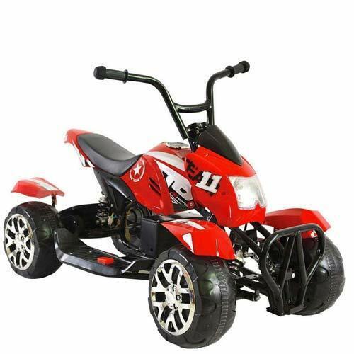 Quad elettrico per bambino moto rossa a batteria 12V ricaricabile per bambini