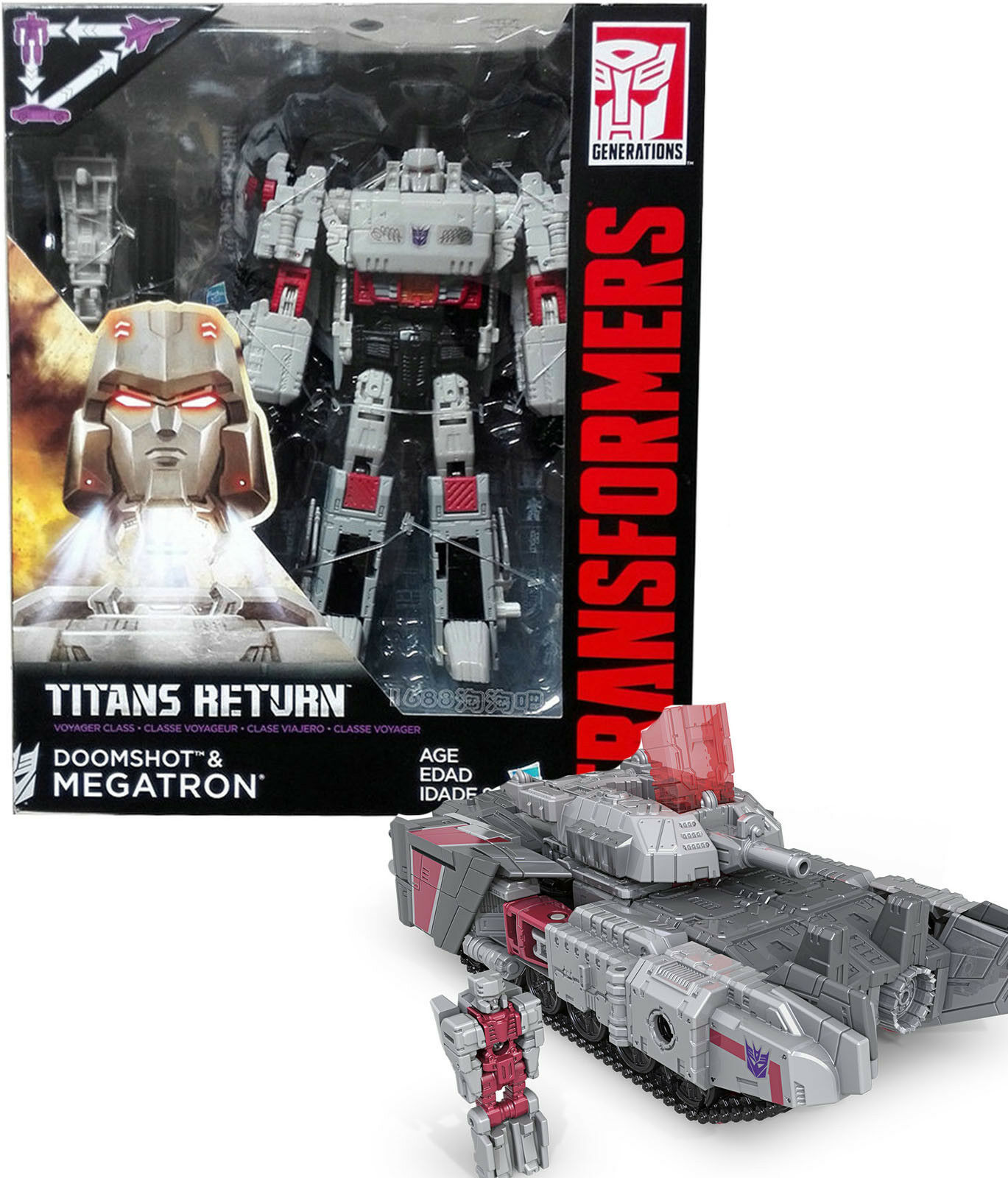 Transformers Generations Titans Return DOOMSHOT & MEGATRON Voyager Class Gift