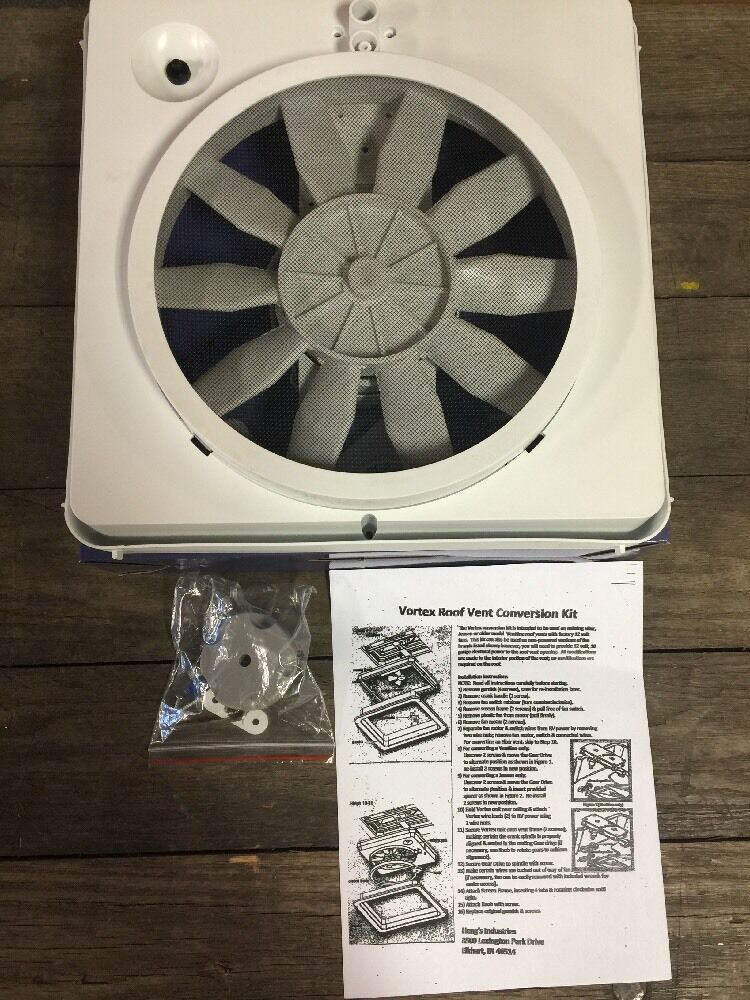 12 Volt Fans For Rv : New rv vortex single speed roof vent up grade fan
