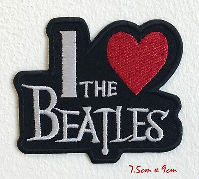 """The Beatles Music Rock Band Embroidered Iron Sew On Patch Appliques 3.7/""""X1.8/"""""""