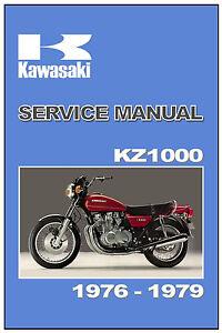 kawasaki workshop manual kz1000 z1000 and z1r 1977 1978 and 1979 rh ebay com 1979 Kawasaki KZ1000 1981 Kawasaki KZ1000