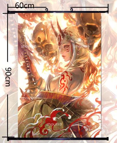 Fate//Grand Order Ibaraki Douji Wall Scroll Poster Home Decor Gift 60*90cm#0115