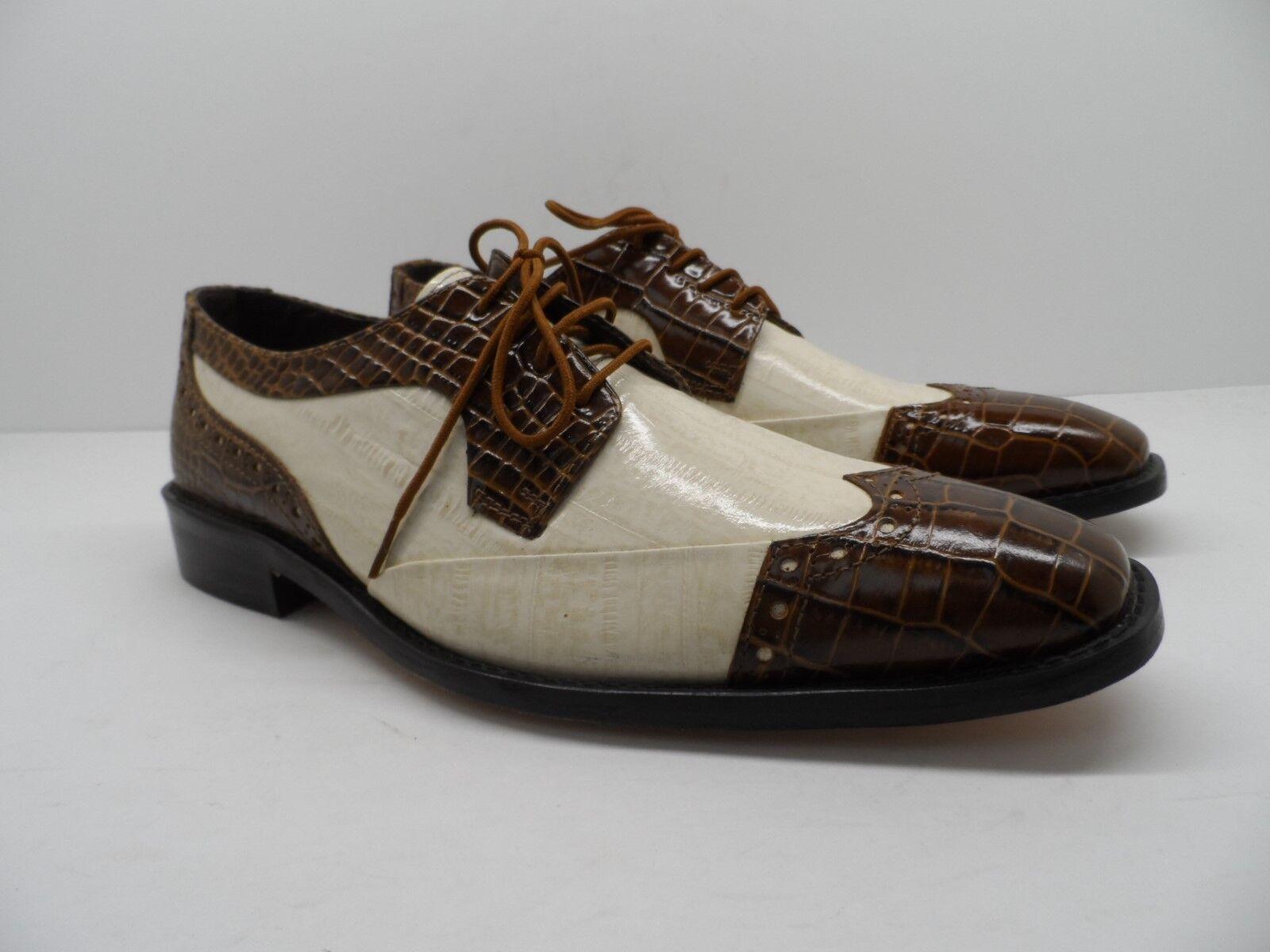 Stacy Adams Men's Galletti Crocodile Print Dress shoes Oxford Size 8M