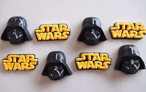 12 x Edible Star Wars 3D DARTH VADER Cupcake Toppers BIRTHDAY CAKE