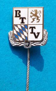 Emaillierte Bayerischer TischTennis Verband ,Jugend - Ehrennadel in Silber BTTVJ