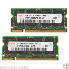 Hynix 4GB 2X 2GB DDR2 2RX8 PC2 6400 800Mhz 200pin So-dimm RAM Laptop Memory CL6