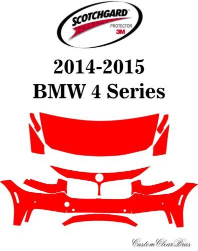 3M Scotchgard Paint Protection Film Clear Bra Pre-Cut Kit 2014 2015 BMW 4 Series