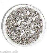 1 boite bijoux deco d'ongle minis HEXAGONES Argent Argenté Métal rigide Nail Art