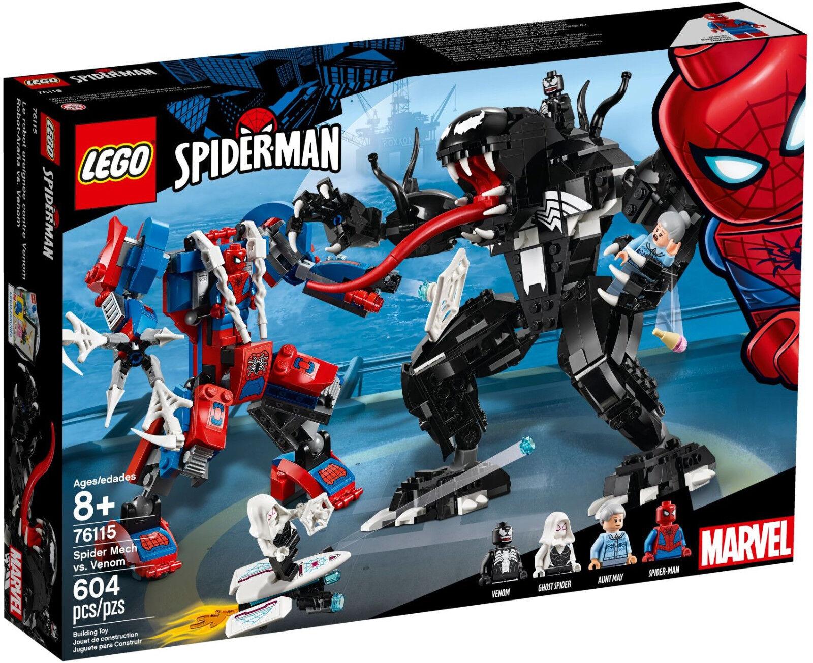 LEGO Marvel Superheroes  - 76115 SPIDER Mech vs. Venom-NUOVO & OVP  sconto di vendita