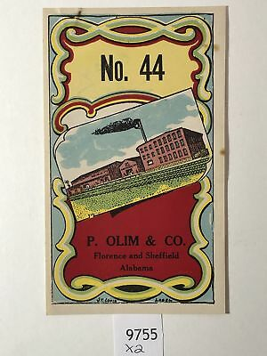 No 44/p And Great Variety Of Designs And Colors Full Range Of Specifications And Sizes Olin And Co Lithograph Label Famous For High Quality Raw Materials Dutiful Rare 1920-30's