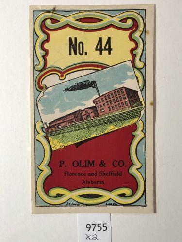 No 44//P Olin and Co Lithograph Label Rare 1920-30's