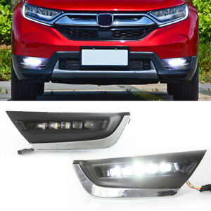 For-Honda-CR-V-CRV-2017-2018-2019-DRL-LED-Daytime-Running-Light-Bumper-Fog-Lamp